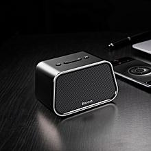 BASEUS Encok E02 Trapezoid Mini Bluetooth Speaker Support U Disk / TF Card /Aux Input-Black WWD