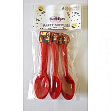 Spider man spoons-10 pieces-red
