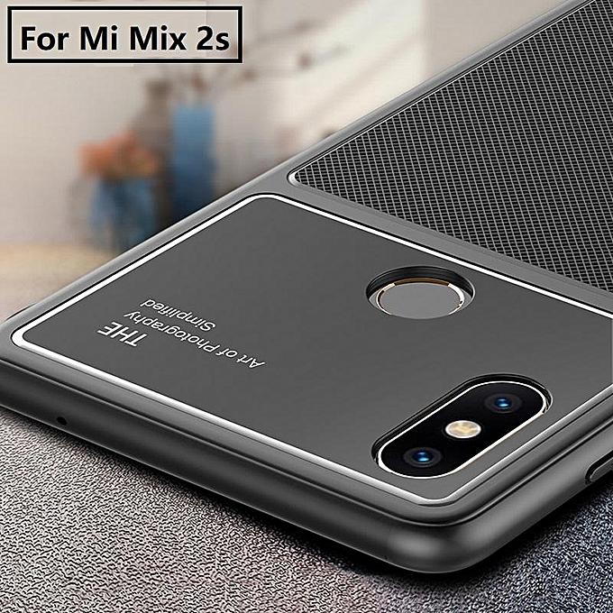 super popular f5968 9c4c4 For Xiaomi Mi Mix 2S Glass Case Full Coverage HD Tempered Glass Cover For  Xiaomi Mi Mix 2S (Black)