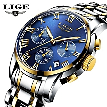 2017 New Watches Men Luxury Brand LIGE Chronograph Men Sports Watches Waterproof Full Steel Quartz Men's Watch Relogio Masculino 9810