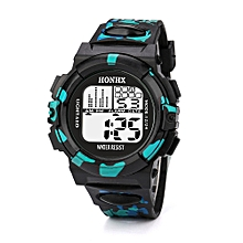 HONHX Africashop Watch  Outdoor Multifunction Waterproof Child/Boy's/Girl's Sports Electronic Watches-Blue