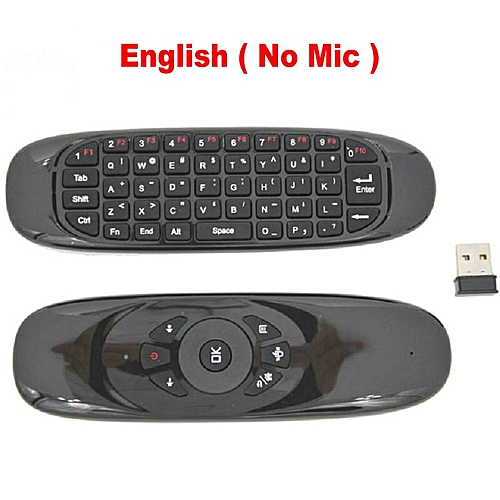 1a7f555385c Generic Tikigogo C120 2.4G Gyro Air Mouse Mic Microphone Voice mini  Keyboard for Android Smart TV Box Windows PC Remote Control QLANA