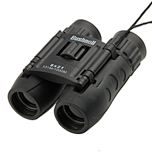 Folding Bushnell 8 x 21mm Telescope Binoculars (Black)