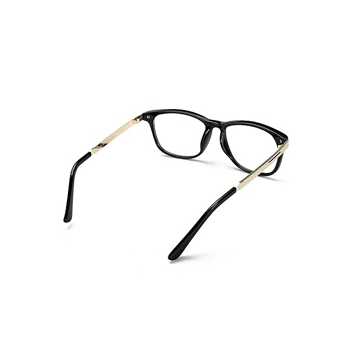 6d3d254af8d ... Retro Unisex Eyeglass Frame Full-Rim Glasses Clear Lens Metal Women Men  Designer Bright Black