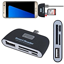 Micro USB 3 In 1 Memory Card Reader Adapter USB-TF-SD For Samsung Galaxy S7Edge