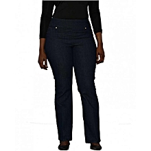 Deep Indigo Blue Classic Pull On Fit Jeans