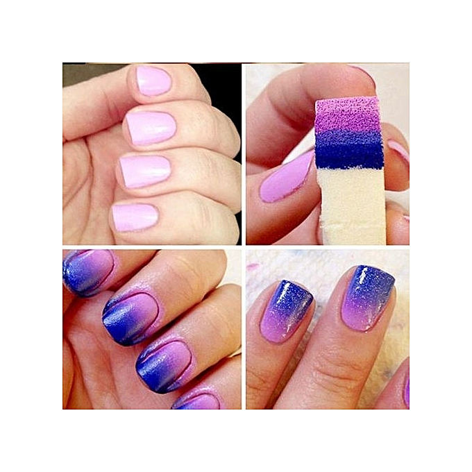Buy Generic 1 Set Nail Art Sponge Gradual Change Stamp Polish