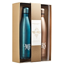 Mr & Mrs Water Bottle set