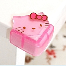 4pcs/lot Cute Cartoon Baby Safety Furniture Corner Guards Soft Child Safety Silicone Table Desk Corner Protector Edge Cover - Kitty