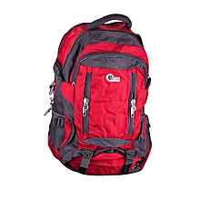 Waterproof Nylon Backpack Outdoor Sports Hiking Bag Gym Bag Folding Bag(Red)