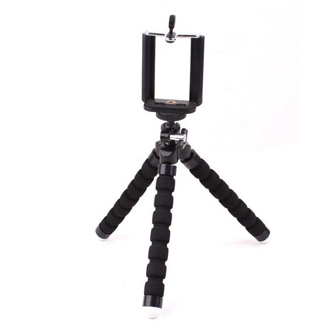 Tripod Stand Holder Universal Clip For IPhone, Cellphone,Camera - Black