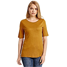Brown Fashionable Standard T-Shirt