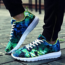 bluerdream-Unisex Women Men Casual Sneakers Sports Running Breathable Camouflage Shoes- Green_CN SIZE