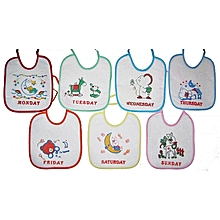 Waterproof Soft Baby Bibs - All Days of the Week ( Set of 7)