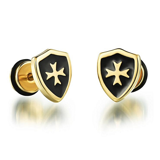 Hot Fashion Jewelry Cool Man Cross Stud Earrings For Men S Stainless Steel Earring