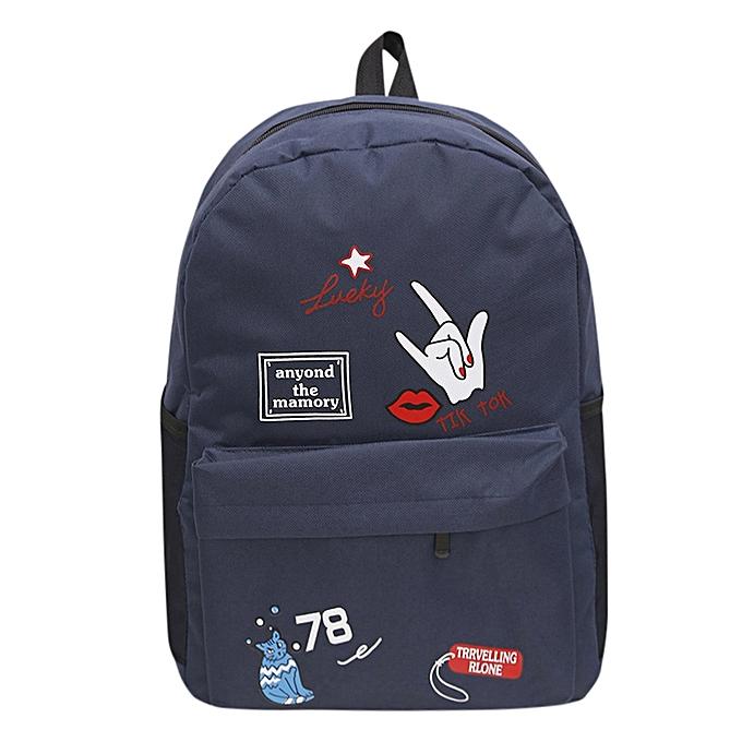 huskspo Women Girls Preppy Letter Print Shoulder Bookbags School Travel  Backpack Bag 9a4e2ada8aa12