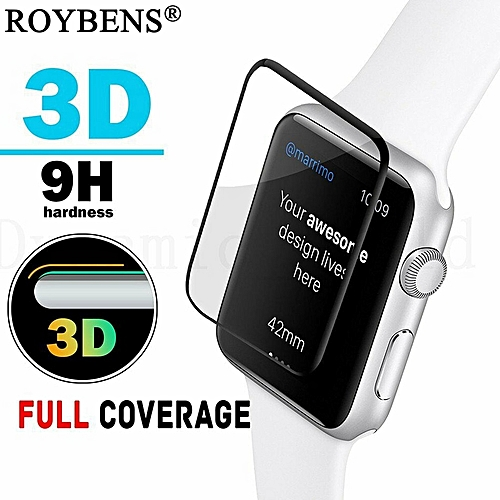 big sale e7201 5feb1 3D Curved Clear Tempered Glass For Apple Watch 3/2/1 FULL COVER Screen  Protector Glass Film For Apple Watch iWatch 38mm 42mm 9H