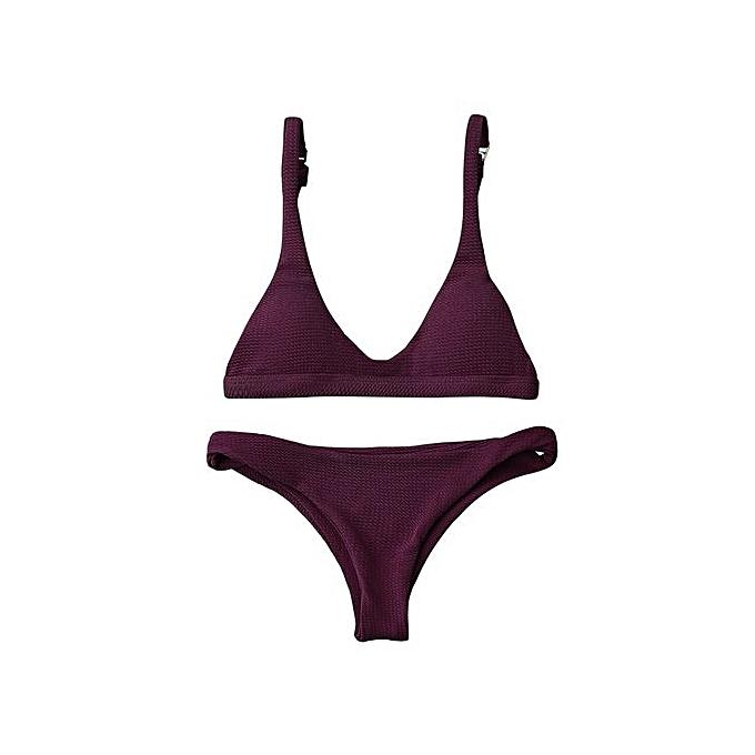 67ec7728d13f Generic Padded Scoop Neck Bikini Set-MERLOT @ Best Price | Jumia Kenya