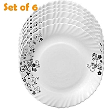 6 Pcs Classique Dinner Plates + FREE 6 Tablespoons - Mystrio Black