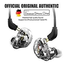 QKZ VK1 4 Dynamic Hybrid In Ear Earphone HIFI DJ Monito Running Sport Earphone 5 Drive Unit Headset Earbuds with Microphone