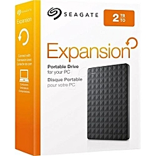 Seagate Expansion 2TB - Portable External Hard Drive - USB 3.0 - Black