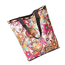 guoaivo Floral Printed Canvas Tote Shopping Bags Large Capacity Canvas Beach Bag T