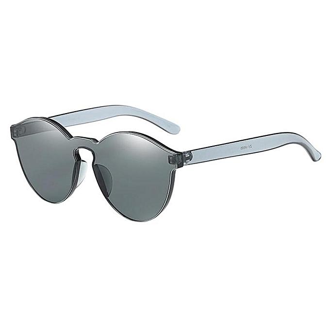 fe08bfa0fc Generic New Fashion Retro Frameless Sunglasses Women Cat Eye Candy Color  Black gray   Best Price