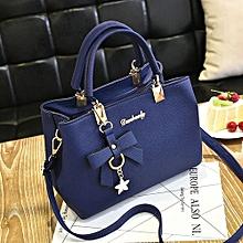 bluerdream-Women Leather Handbag Shoulder Bag Messenger Satchel Shoulder Crossbody Blue-Blue