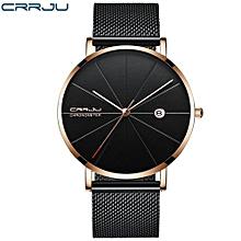 Man Watches Analog sports Wristwatch Display Date Men's Quartz Watches Business Watch Men Watch - Black