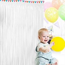 Birthday Wedding Party Shiny Fringe Curtain Room Hanging Decoration 100cm*200cm
