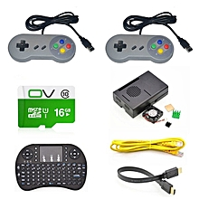 Game Console Kit With USB Controller Gamepad For Raspberry Pi 3 Model B/RetroPie