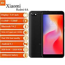 """Xiaomi Redmi 6A 5.45"""" 2GB RAM + 32GB ROM Android 8.1 - Black"""