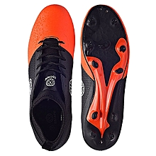 Ankle Covered Football Soccer Boot-Orange/black