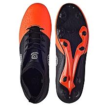 Ankle Covered Football Soccer Boot-Orange/black