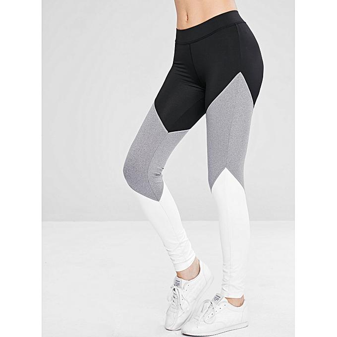 2356174ff7f Color Block Yoga Athletic Leggings,Black