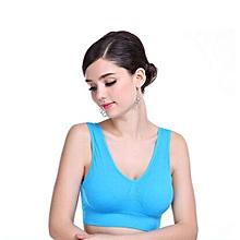 Women Thick Padded Athletic Vest Fitness Sports Yoga Stretch Bra BU/M