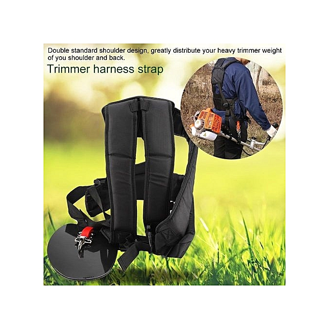 Home & Garden Adhesive Fastener Tape New Fashion Universal Trimmer Professional Double Shoulder Strap Mower Hard Nylon M-shaped Belt Black For Brush Cutter Garden