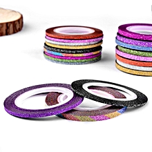 Nail Grind Gold Silver Lines Thread With Adhesive Tape Colored Drawing Line