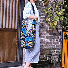 Women National Style Printed Art Cotton Crossbody Bag Shoulder Bag