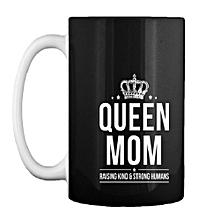 Queen Mug - White & Black