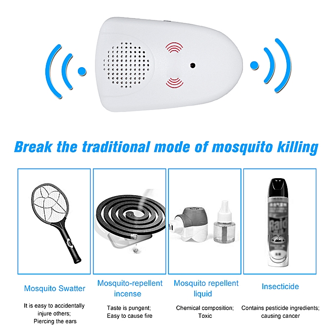Portable Intelligent Electronic Ultrasonic Mosquito Insect Repellent Pest Reject Insect Killer Adjustable And Usb Charging Port Access Control Kits Security & Protection