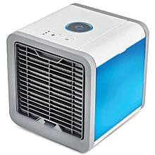 Mini Fan Colorful Lamp Portable Air Conditioner - White