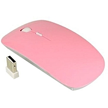 Wireless Mouse ,  2.4 Ghz ,With USB Receiver - Pink
