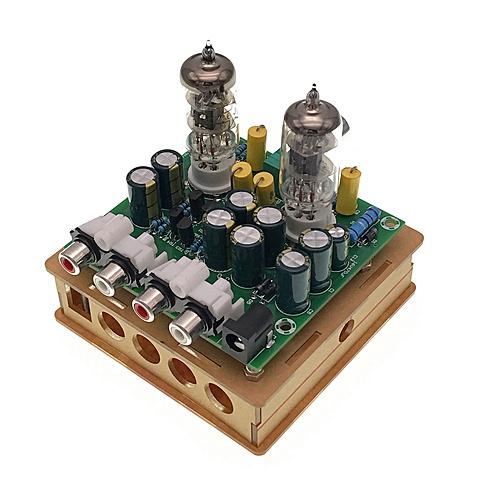 Newest 6J1 Tube Preamp Amplifier Board Pre-amp Headphone Amp 6J1 Valve  Preamp Bile Buffer Diy Kits(6J1 Tube Preamp Amplifier Board+Transparent  Shell