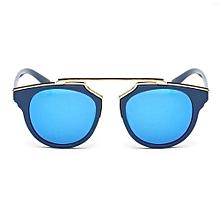 2016 Children Sunglasses Vintage Cat Eye Kids Sunglasses Girls Boys Brand Children Sun Glasses (Blue)