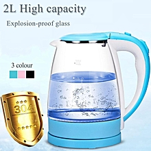 Electric Kettle Blue Pink Black 1800W 2L Explosion-proof Glass For Household