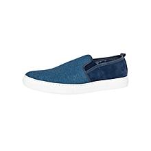 Blue Men's Fabric Sneakers