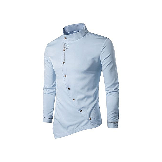 5d401d3812d Meibaol Store Mens Casual Irregular Silm Fit Long Sleeve Shirt Blouse Tops  Embroidery T-shirt