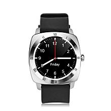 2G Smart Watch Phone 1.33 inch MTK6261 Pedometer Sleep Monitor Sedentary Reminder SIM TF Card 1.3MP Camera - Silver