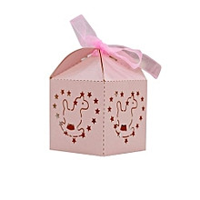 50Pcs Sweet Married Wedding Favor Box Gift Boxes Candy Paper Party Box Case Pink